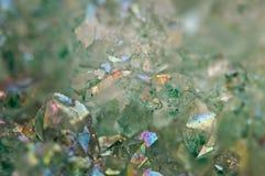 Kryształu agata SiO2 silikonowy dwutlenek Makro- Obraz Stock