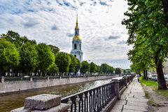 Kryukov canal. St. Nicholas Cathedral Stock Photos