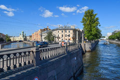 Kryukov and Griboyedov canal embankment Royalty Free Stock Images