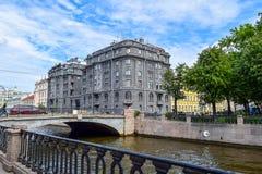 Kryukov kanał w St Petersburg Zdjęcia Stock