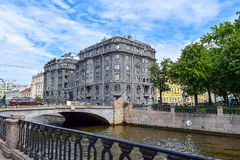 Kryukov kanal i St Petersburg Arkivfoton