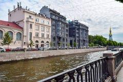 Kryukov kanal i St Petersburg Royaltyfri Bild