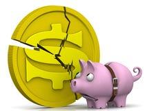 Kryzys Amerykańska gospodarka ilustracji