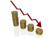 kryzys ekonomiczny ilustracja wektor