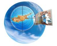 Kryzys euro w Cypr Zdjęcie Royalty Free