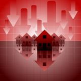 kryzys hipoteka obraz stock
