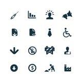 Kryzys ikony ustawiać Obraz Stock