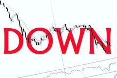 kryzys pieniężny fotografia stock