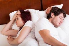 Kryzys w łóżku Fotografia Royalty Free