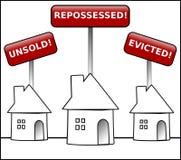 kryzysu domowej własności ostrzeżenie Obrazy Royalty Free