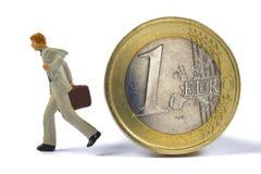 kryzysu euro fotografia stock