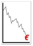 kryzysu euro royalty ilustracja