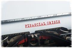 Kryzysu finansowego zawiadomienie Obrazy Stock