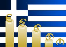 kryzysu grek Obrazy Stock