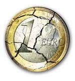 kryzysy euro Fotografia Royalty Free