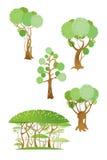krzaków drzewa Ilustracji
