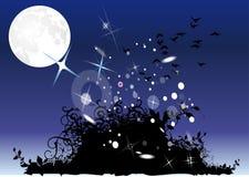 krzak księżyc Ilustracja Wektor