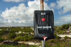 krzaka obozu prysznic niebo przeglądać Zdjęcie Stock