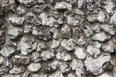 Krzemień kamiennej ściany tekstura Obrazy Stock