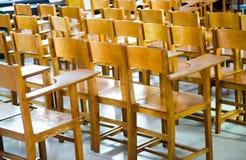 krzesła biurka szkoła Fotografia Stock