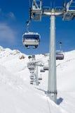 krzesła dźwignięcia narciarstwo Fotografia Royalty Free