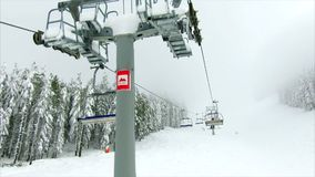 krzesła dźwignięcie w górach zbiory