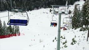 krzesła dźwignięcie w górach zdjęcie wideo