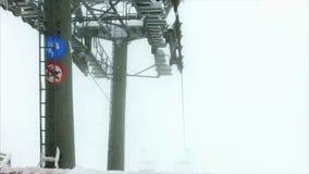 krzesła dźwignięcie w górach zbiory wideo