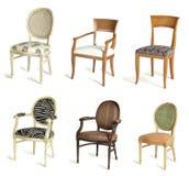 krzesła drapują sześć Obrazy Stock
