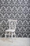 krzesła drewniany biały Obrazy Royalty Free