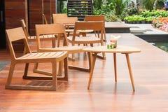 Krzesła drewniany przyjęcie Zdjęcie Stock