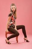 krzesła dziewczyny obsiadanie Zdjęcie Stock