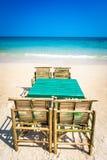 Krzesła i stół fotografia royalty free