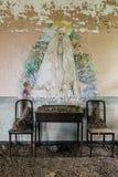 Krzesła i stół Nowy Jork Zaniechany szpital, Sanitarium z kaku -/- fotografia royalty free
