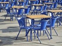 Krzesła i stoły Zdjęcia Stock