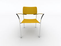 krzesła kolor żółty Obrazy Royalty Free