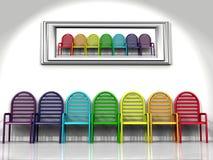Krzesła kolor ilustracja wektor