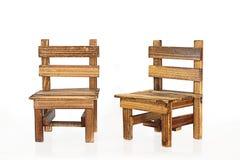 Krzesła na białym tle Zdjęcie Stock