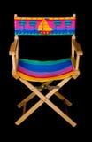 krzesła na plaży prosto na pas Obrazy Royalty Free