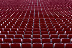 Krzesła na stadium piłkarski Fotografia Royalty Free