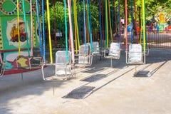 Krzesła o'plane w parku zdjęcie royalty free
