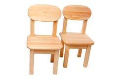 krzesła odizolowywali drewnianego Fotografia Stock