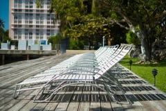 Krzesła ogrodowe zdjęcie stock