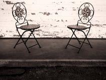 krzesła opróżniają dwa zdjęcie royalty free