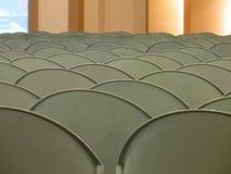 krzesła opróżniają rzędy Zdjęcie Stock
