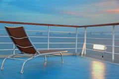krzesła pokład iluminujący statek odludny Zdjęcie Stock