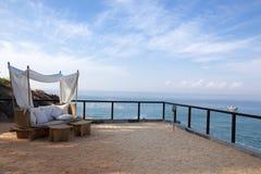 krzesła pokładu morze zdjęcia stock