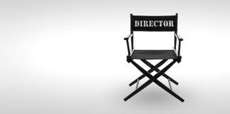 krzesła projekta dyrektor tkaniny meblarskiego kawałka biały drewniany Zdjęcia Royalty Free