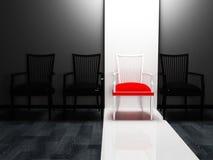 krzesła projektują cztery wnętrzy scenę ilustracji