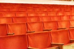 Krzesła w audytorium Zdjęcie Stock